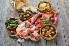 Gemengde Spaanse tapas stock afbeelding