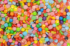 Gemengde suikergoedachtergrond Royalty-vrije Stock Foto's