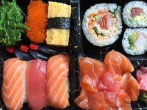 Gemengde sushi stock foto's