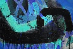 Gemengde technieken, het Abstracte schilderen Royalty-vrije Stock Afbeelding