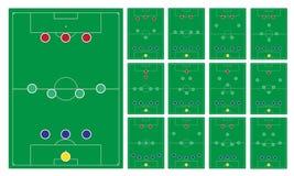 Gemensam modern fotbollbildandeuppsättning Fotografering för Bildbyråer