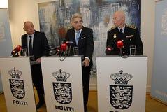 GEMENSAM PRESSKONFERENS ANGÅENDE DNISH-SÄKERHET Royaltyfria Bilder
