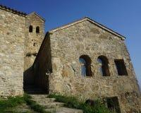 Gemensam sikt för Nekresi klosterbyggnader fotografering för bildbyråer