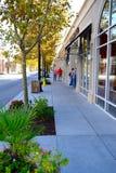 Gemensam trottoar för marknad Arkivfoton