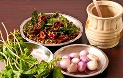 Gemensamma ingredienser för indisk curry Arkivbild
