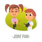 Gemensamt smärta det medicinska begreppet också vektor för coreldrawillustration Royaltyfri Fotografi