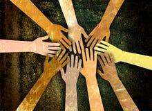 Gemenskap av händer Arkivfoto