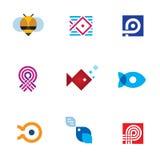 Gemenskap för digital ålder för uppsättning för symbol för logo för app för ny mobil startup Royaltyfri Fotografi