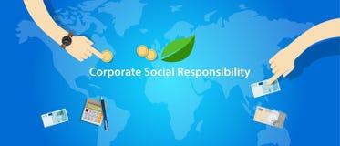 Gemenskap för hjälp för affär för företag för företags socialt ansvar för CSR vektor illustrationer
