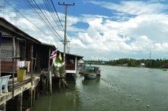 Gemenskap längs kanalen Royaltyfri Bild