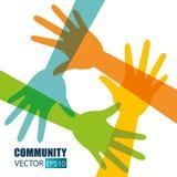 Gemenskap och samkväm vektor illustrationer