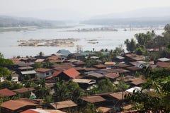 Gemenskap slumkvarter Arkivbild