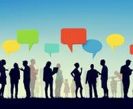 Gemenskapaffär Team Digital Communication Concept Arkivbild