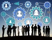 Gemenskapaffär Team Partnership Collaboration Support Concep Royaltyfria Foton