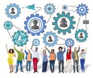 Gemenskapaffär Team Partnership Collaboration Support Concep Royaltyfri Foto