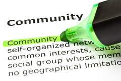 Gemenskapdefinition Arkivfoton