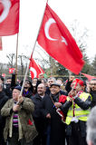 gemenskapdemonstrationsparis turk Royaltyfri Foto