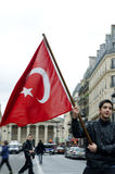 gemenskapdemonstrationsparis turk Royaltyfria Foton