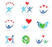 gemenskapsymboler älskar förhållande stock illustrationer