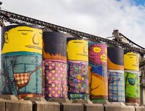 Gemeos Granville Island Vancouver Royalty Free Stock Image
