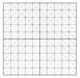 Gemeten Net Grafiek het in kaart brengen net Hoekheerser met meting op de witte achtergrond wordt geïsoleerd die Vectormillimeter royalty-vrije stock afbeelding