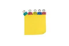 gemfärg bemärker klibbig yellow Arkivfoton
