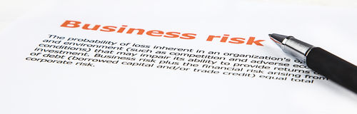 Gemiddelde van bedrijfsrisico Stock Foto's