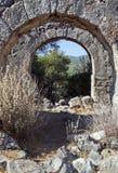 Gemiler海岛废墟,土耳其 库存照片