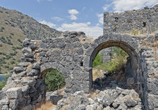 在Gemiler海岛,费特希耶,土耳其上的圣尼古拉斯 库存照片