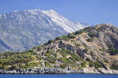Gemiler Island with church of St. Nicholas, Turkey Stock Photography