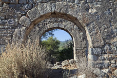 Gemiler island ruins, Turkey Stock Photos