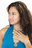 Gemima blue glamour 4. Gemima glamour 4 Royalty Free Stock Photos