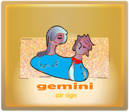 Gemini. Air sign of zodiac royalty free illustration