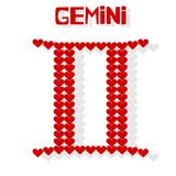 Gemini. An illustration of Zodiac sign: Gemini Stock Photography