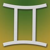 Gemini Aluminum Symbol. On background degraded royalty free illustration