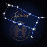 Gemini Astrology constellation of the zodiac Royalty Free Stock Images