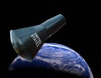 Gemini Capsule, espace extra-atmosphérique, la terre Image libre de droits