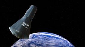 Gemini Capsule, Kosmische ruimte, Aarde vector illustratie