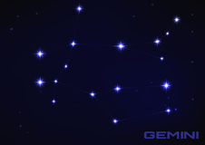 Gemini constellation Royalty Free Stock Photography