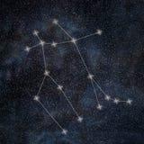 Gemini Constellation. Zodiac Sign Gemini constellation. Lines  Galaxy background Zodiac Sign Royalty Free Stock Photo