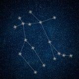 Gemini Constellation. Zodiac Sign Gemini constellation. Lines  Galaxy background Zodiac Sign Stock Photography