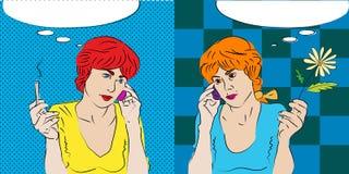 Gemini conversation Stock Photo