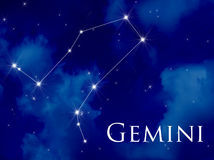 Gemini da constelação Imagens de Stock