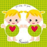 Gemini do zodíaco Foto de Stock Royalty Free