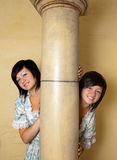 Gemini girls. Gemini or Twins, this photo is part of a series of twelve Zodiac signs of astrology stock photos