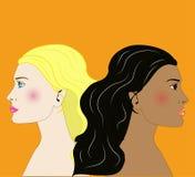 Gemini girls portrait Stock Image