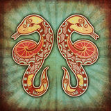 gemini grunge zodiak Zdjęcie Royalty Free