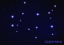 Gemini gwiazdozbiór Fotografia Royalty Free