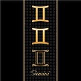 gemini horoscope symbols 免版税库存照片