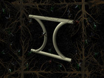 gemini horoskopu symbol Fotografia Stock